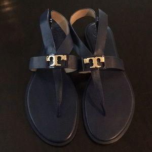 Tory Burch navy sandal